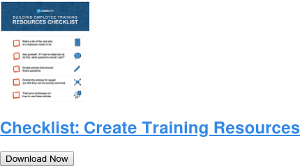 Checklist: Create Training Resources Download Now