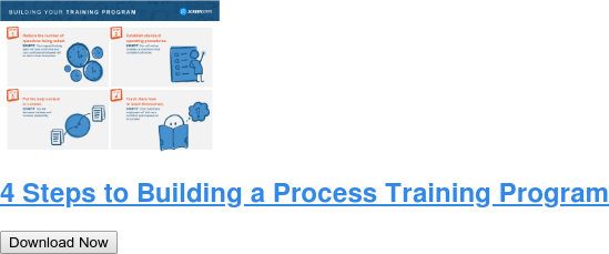 4 Steps to Building a Process Training Program Download Now